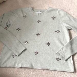 Zara embellished sweater!